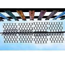 Rainbow Fence Photographic Print