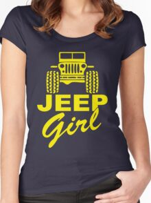 Jeep Girl Yellow Women's Fitted Scoop T-Shirt