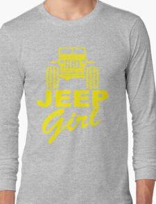 Jeep Girl Yellow Long Sleeve T-Shirt