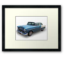 Blue Cadillac Framed Print