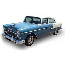 Blue Cadillac Photographic Print