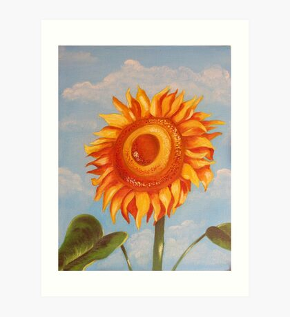 Sun Flower Oil Painting Art Print
