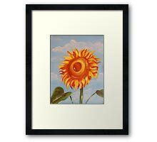 Sun Flower Oil Painting Framed Print