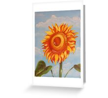 Sun Flower Oil Painting Greeting Card