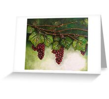 Grapevine Oil Painting Greeting Card