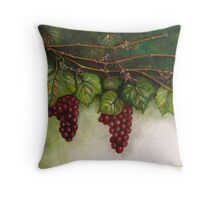Grapevine Oil Painting Throw Pillow