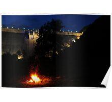 Dam Fire - Bicaz, Romania Poster