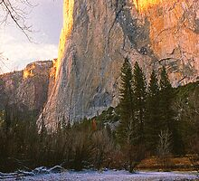 EL CAPITAN,DUSK,WINTER by Chuck Wickham