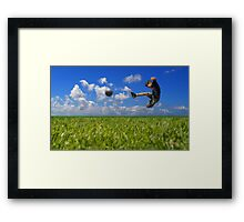 Soccer Player Framed Print