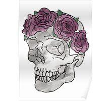 Floral Skull Poster