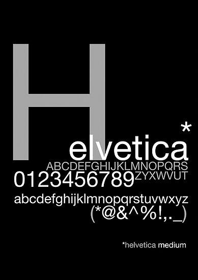 Helvetica Poster by Vinnhh