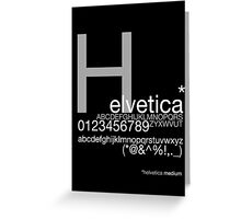 Helvetica Poster Greeting Card
