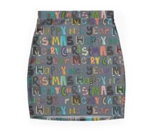 metal merry christmas and happy new year Mini Skirt