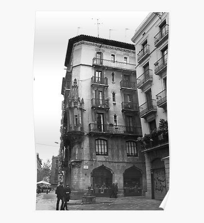 Barcelona Plaza Poster