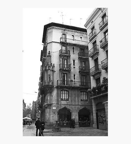 Barcelona Plaza Photographic Print