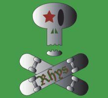 Rhys' Skull & Skateboards Baby Tee