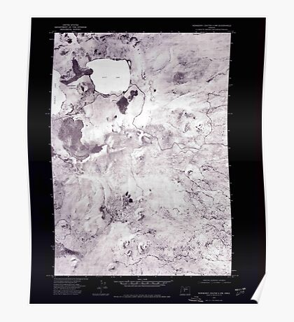 USGS Topo Map Oregon Newberry Crater 4 NW 280919 1974 24000 Inverted Poster