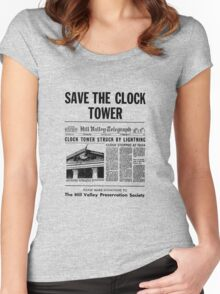 Back to the future - Save the clock tower ! Women's Fitted Scoop T-Shirt