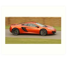 McLaren MP4-12c - Jenson Button Art Print