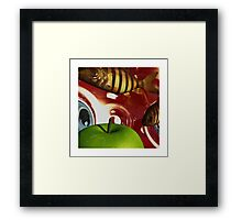 Fish Tripping Framed Print