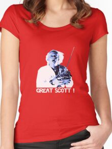 Back to the future - Great Scott ! Women's Fitted Scoop T-Shirt