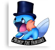 Mudkip The Fabulous Canvas Print