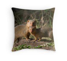 Mongoose Alert - Masai Mara, Kenya Throw Pillow