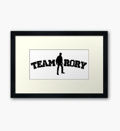 Team Rory Doctor Who  Framed Print