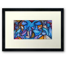 Blue Angel Flight Framed Print