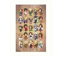 Hetalia Group Art Print