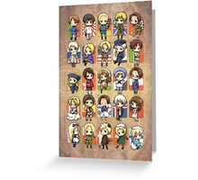 Hetalia Group Greeting Card