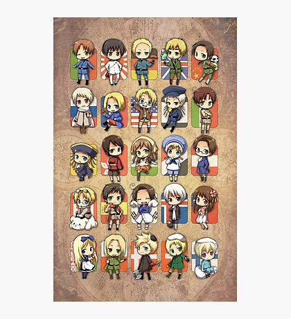 Hetalia Group Photographic Print