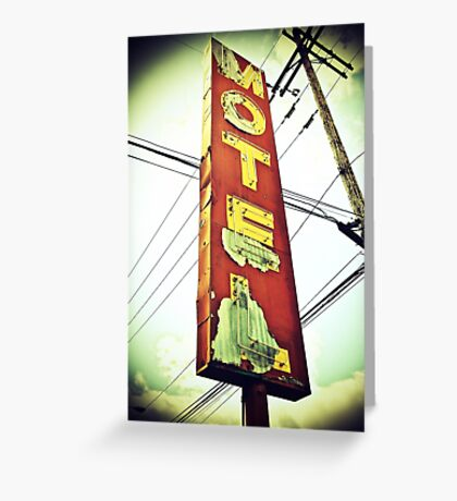 Highway 99 Motel Greeting Card