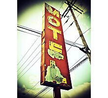 Highway 99 Motel Photographic Print