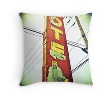 Highway 99 Motel Throw Pillow