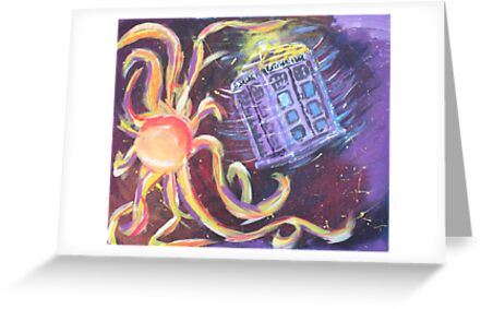 The Tardis Escapes From A Mutant Orange by Rechenmacher