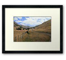 The Never Ending New Zealand Landscape Framed Print
