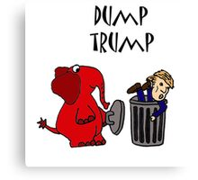 Funny Republican Elephant Saying Dump Trump Canvas Print