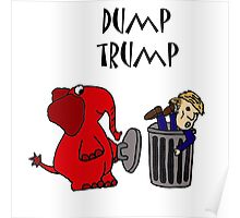 Funny Republican Elephant Saying Dump Trump Poster