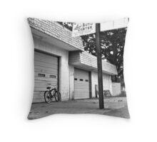 Lou's auto center Throw Pillow