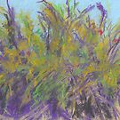 Pomegranate Bushes (pastel) by Niki Hilsabeck