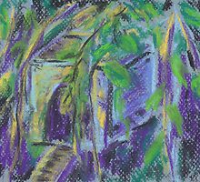 Birdhouse in Hiding (pastel) by Niki Hilsabeck