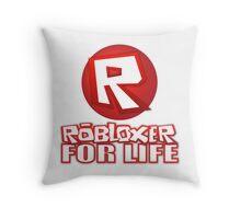 Robloxer For Life Throw Pillow