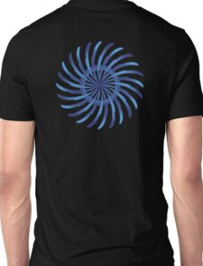 blue spin flower Unisex T-Shirt