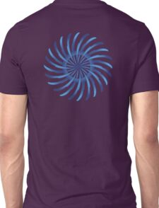 blue spin flower Unisex T-Shirt