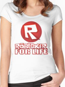 Robloxer For Life Women's Fitted Scoop T-Shirt