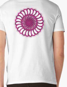 pink spin flower Mens V-Neck T-Shirt