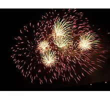 Joyful Fireworks! Photographic Print