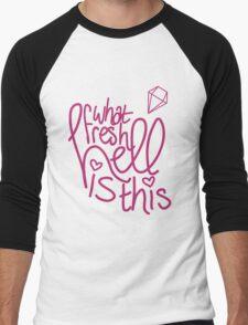 What Fresh Hell Men's Baseball ¾ T-Shirt