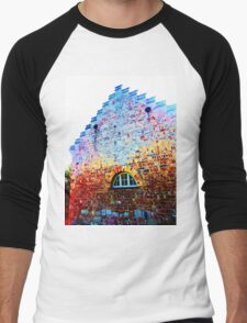 Scary Crying House - Unique Photography  Men's Baseball ¾ T-Shirt